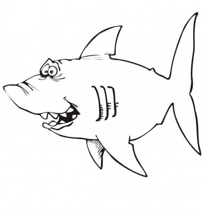 Coloriage et dessins gratuits Requin humoristique à imprimer