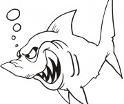 Coloriage Requin méchant