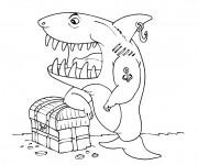 Coloriage Requin pirate