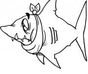 Coloriage Requin qui fait rire