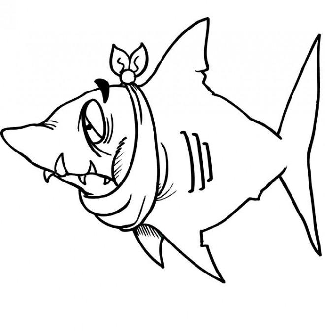 Coloriage et dessins gratuits Requin qui fait rire à imprimer