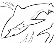 Coloriage Requin qui nage