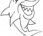 Coloriage Requin qui rit