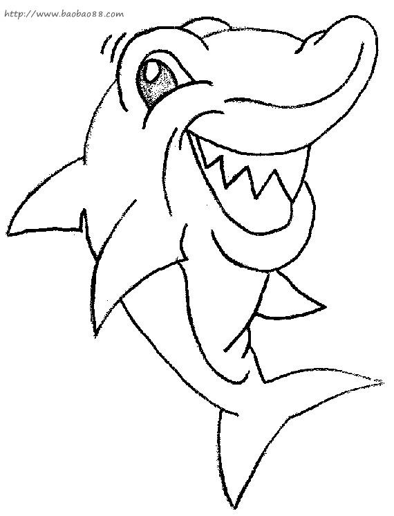 Coloriage requin qui rit dessin gratuit imprimer - Requin rigolo ...