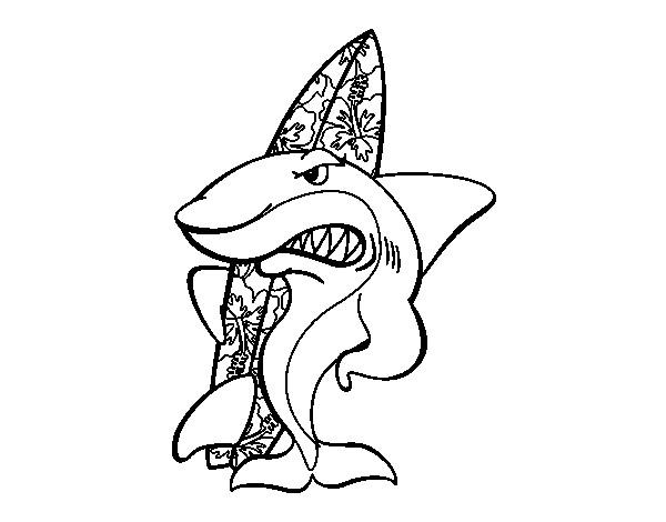 Coloriage et dessins gratuits Requin s'amuse à imprimer