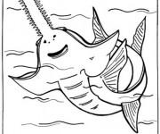Coloriage et dessins gratuit Requin Scie à imprimer