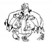 Coloriage et dessins gratuit Sanglier 10 à imprimer