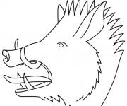 Coloriage et dessins gratuit Sanglier 3 à imprimer
