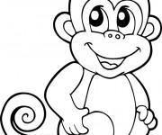 Coloriage et dessins gratuit Babouin vecteur à imprimer