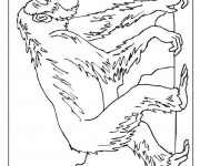 Coloriage et dessins gratuit Dessin de gorille à imprimer