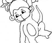 Coloriage et dessins gratuit Petit singe à imprimer