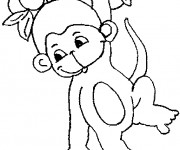 Coloriage dessin  Singe 14
