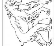 Coloriage dessin  Singe 18