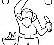 Coloriage et dessins gratuit Singe en couleur à imprimer