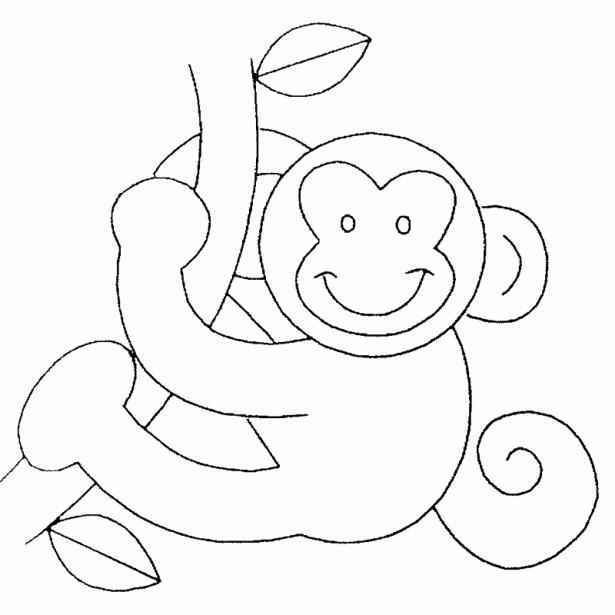 Coloriage et dessins gratuits Singe et arbre à imprimer
