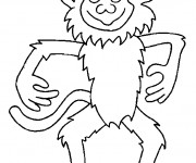 Coloriage Singe facile