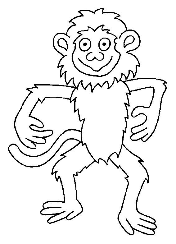 Coloriage singe facile dessin gratuit imprimer - Dessin guenon ...