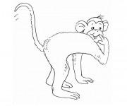 Coloriage et dessins gratuit Singe souriant à imprimer