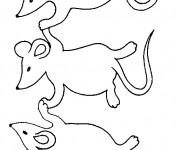 Coloriage et dessins gratuit Les Souris s'amusent à imprimer