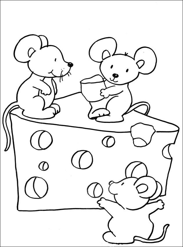 Coloriage et dessins gratuits Souris et fromage à imprimer