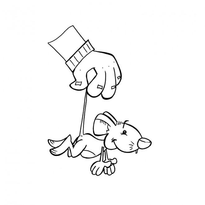 Coloriage et dessins gratuits Souris humoristique à imprimer