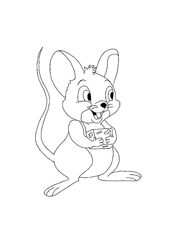 Coloriage souris porte un morceau de fromage dessin gratuit imprimer - Souris a colorier ...