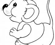 Coloriage et dessins gratuit Souris rigolote à imprimer