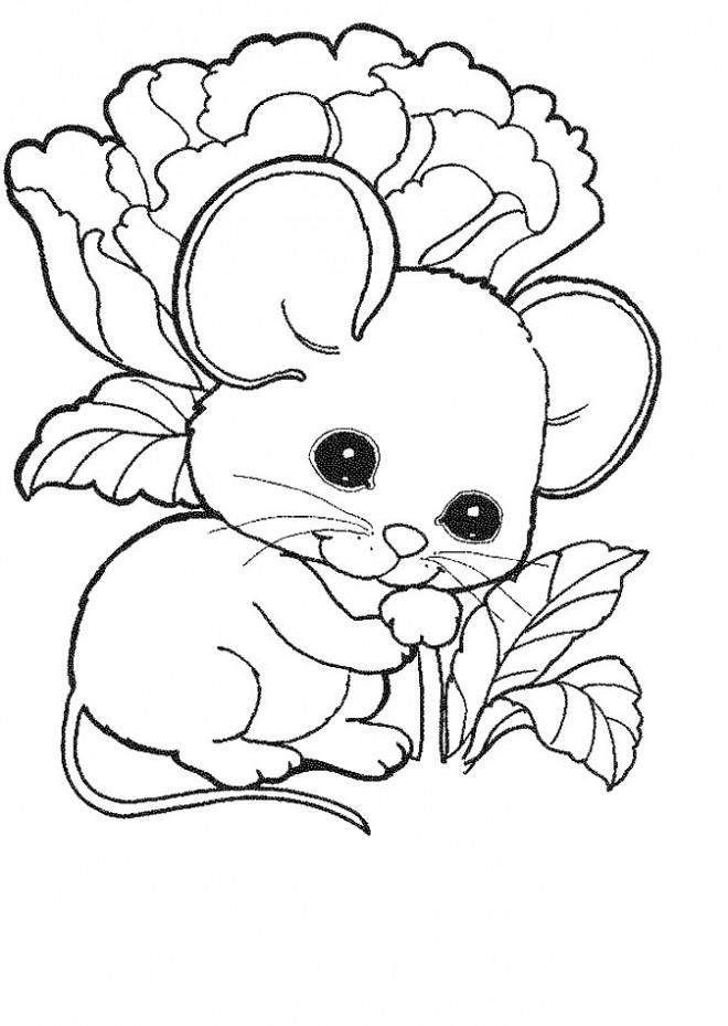 Coloriage souris trop mignonne dessin gratuit imprimer - Dessin sourie ...