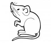 Coloriage et dessins gratuit Souris vecteur à imprimer