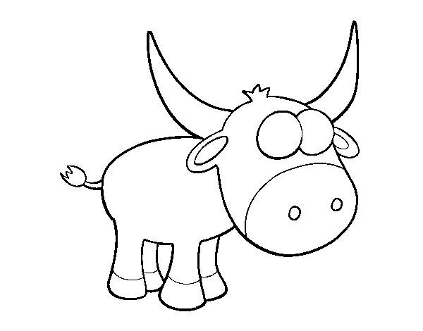 Coloriage et dessins gratuits Petit Taureau à compléter à imprimer