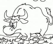 Coloriage dessin  Taureau 11