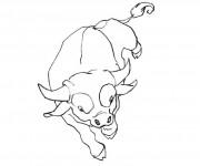 Coloriage dessin  Taureau 6