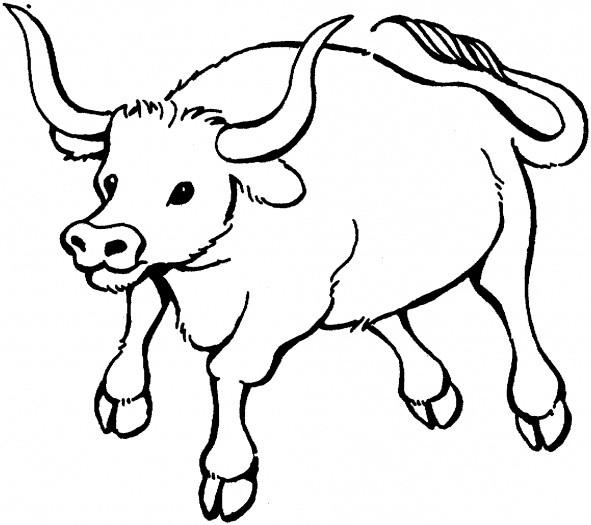 Coloriage taureau d couper dessin gratuit imprimer - Coloriage a decouper ...