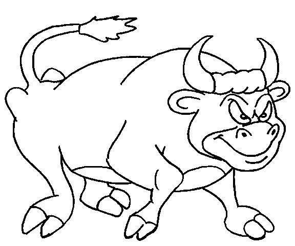 Coloriage taureau agit dessin gratuit imprimer - Dessin de toro ...