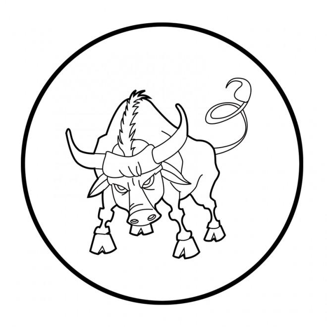 Coloriage et dessins gratuits Taureau art à imprimer