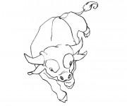 Coloriage et dessins gratuit Taureau au crayon facile à imprimer