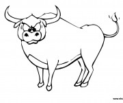 Coloriage et dessins gratuit Taureau énervé à imprimer