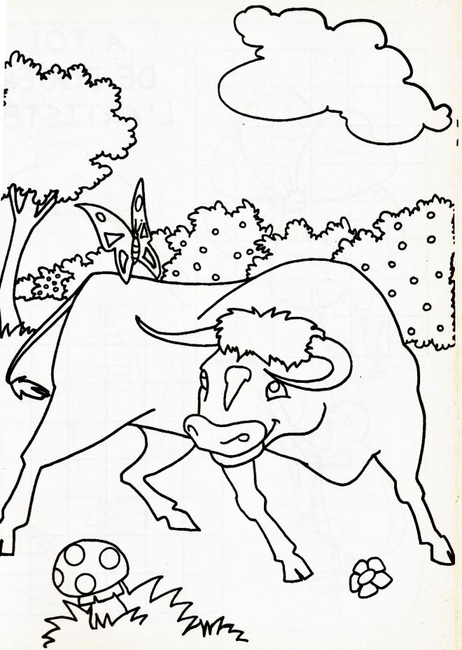 Coloriage et dessins gratuits Taureau Espagnole à imprimer