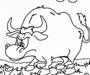 Coloriage et dessins gratuit Taureau Grenouille à imprimer
