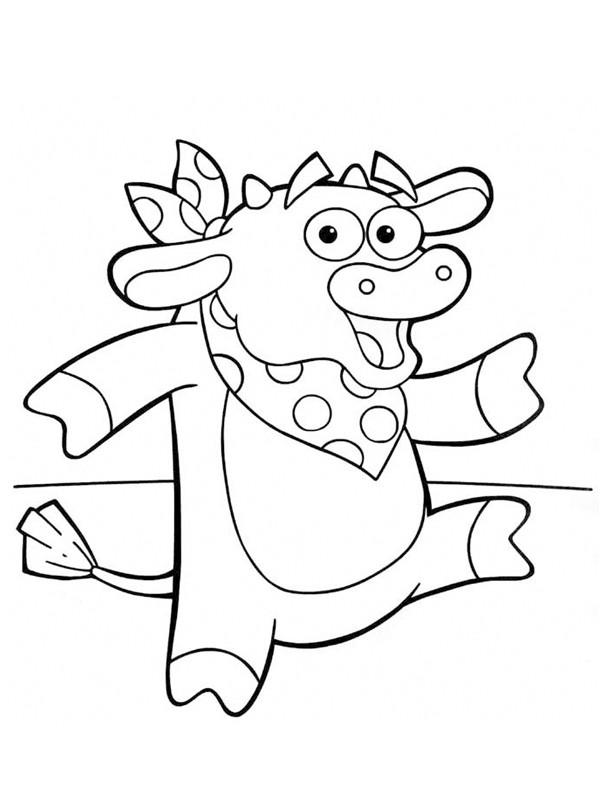 Coloriage et dessins gratuits Taureau rigolo à imprimer