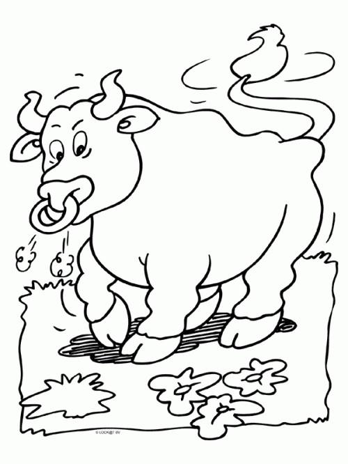 Coloriage et dessins gratuits Taureau vibrante à imprimer
