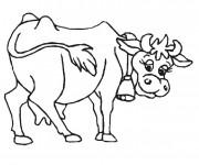 Coloriage vache stylisé