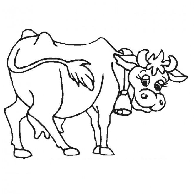 Coloriage Vache Stylisé Dessin Gratuit à Imprimer