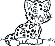 Coloriage et dessins gratuit Petit Tigre à imprimer