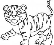 Coloriage et dessins gratuit Petit Tigre en ligne à imprimer