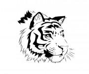 Coloriage et dessins gratuit Tête de Tigre à imprimer