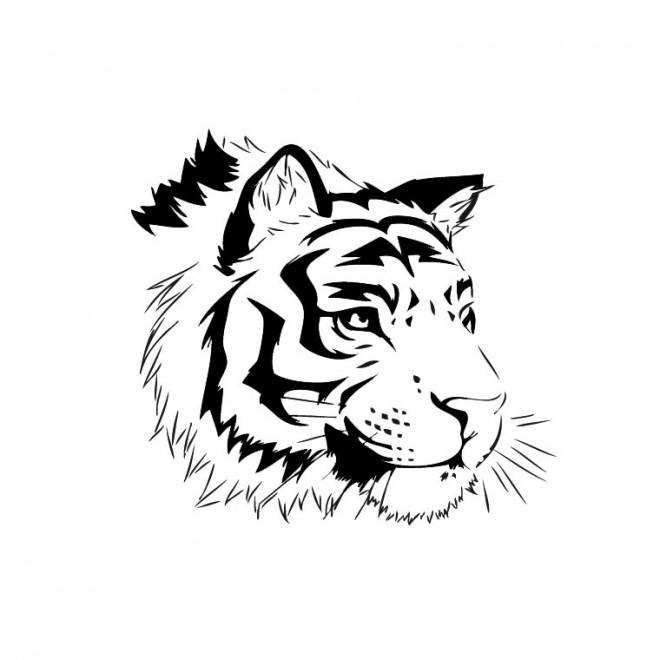 Coloriage et dessins gratuits Tête de Tigre à imprimer