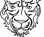 Coloriage Tête de Tigre simple