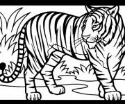 Coloriage dessin  Tigre 19