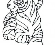 Coloriage dessin  Tigre 2